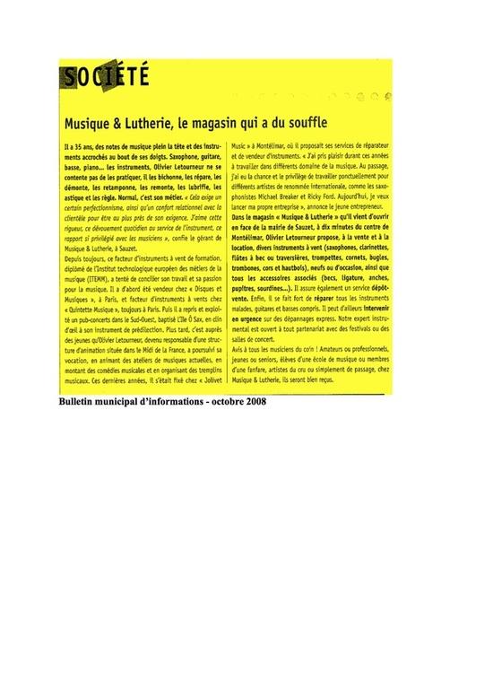 Bulletin municipal 2008