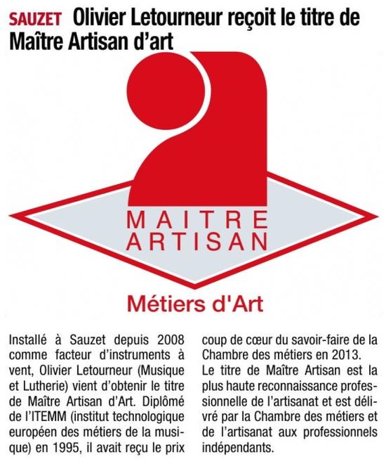 Maître Artisan / La Tribune